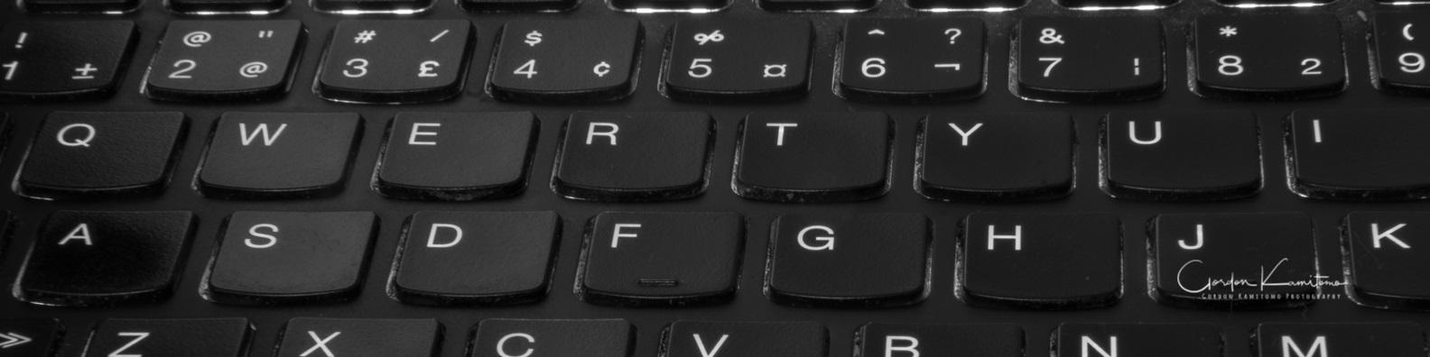 Linkedin Banner Black Keyboard Gordon Kamitomo